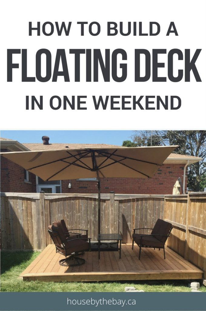 How to build a foating deck